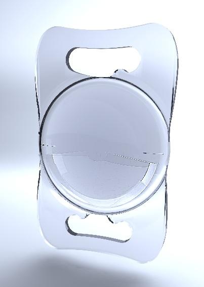 Structure de l'implant Lentis Comfort privilégiant la vision de loin et facilitant la vision intermédiaire